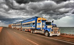 STORM CLOUDS ROLLING IN OVER DARWIN (Paulo660) Tags: kenworth road train cattle livestock truck australia bulls heifer bullock cow cows