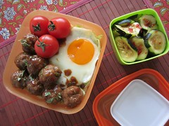 Bento #426 (Sandwood.) Tags: food cooking tomato lunch egg meal bento lunchbox meatballs donburi