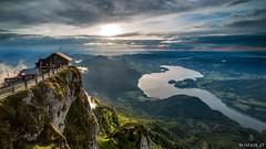 Sheepmountain / Moonlake (Wim Air) Tags: alps mountain austria lake apls salzburg cottage sundown sun colors clouds rain