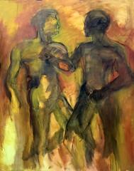 Pugili (annalucinka) Tags: annamarchi boxeur atleti painting