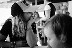 The Wait (FranciscoEvangelista) Tags: family blackandwhite bw classic nova contrast mom lunch blackwhite fuji daughter vila cap wife wait fujifilm alentejo mil the fontes filmsimulation x100t