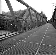 Bridge (Michael Morisak) Tags: ansfelden traun bridge analog ilford delta 100 bw sw film
