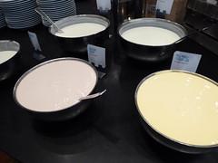 Great choice of yoghurt (seikinsou) Tags: summer food breakfast restaurant hotel midsummer natural sweden diningroom meal yoghurt plain flavour umea scandic