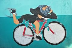 Mural Bike Rider Chiapas Mexico (Ilhuicamina) Tags: streetart art mexico paintings murals bikes bicycles mexican walls chiapas