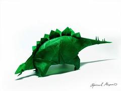 Stegosaurus, Fumiaki Kawahata (Yarik__) Tags: paper origami dino stegosaurus dinoaur kawahata fumiaki
