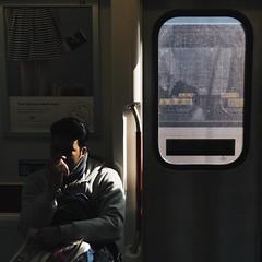 Pensive commuter (uncomman) Tags: street toronto subway photography downtown ttc transit davisvillesubwaystation colorst