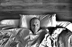 Staring at the ceiling ! (CJS*64) Tags: bw monochrome face mono blackwhite bed nikon head nikkor lying j1 lyingdown cjs nikkorlens nikon1 craigsunter cjs64