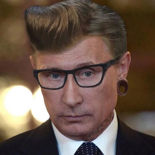 Hipster PUTIN.