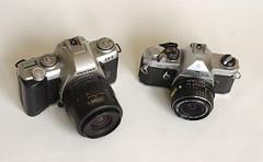 cameras comparison devolution brrr pentaxmx champagnegold pentaxzx5 geargeek