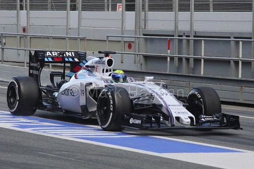 Felipe Massa in his Williams in Formula One Winter Testing 2015