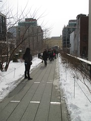 High Line Snow Covered Railroad Overpass Tracks to Nowhere 8368 (Brechtbug) Tags: road park street new york city nyc railroad winter urban snow streets west art architecture garden way design march high downtown gallery path walk manhattan district balcony packing side nowhere tracks overpass rail pedestrian mini el meat line midtown covered mezzanine transportation boardwalk former elevated blizzard derelict reclamation highline skyway redesign the remodeled 2015 03072015