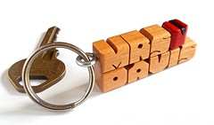"Cherry Wood Teachers ""Apple"" Keychain (DustyNewt Scott) Tags: wood apple cherry wooden carved keychain keyring handmade name teacher souvenir custom woodworking personalized fob dustynewt"