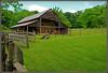 Barn At Exchange Place - HFF (Jerry Jaynes) Tags: barn fence wagon tn farm crops 1850s exchangeplace kingsport kingsporttn oldstageroad livingfarm nikkor1685vr living1850sfarm edensridge