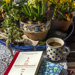 Therapie (bornschein) Tags: green cup garden book spring spirit card present printed