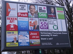 Election Posters in Soesterberg (harry_nl) Tags: netherlands poster utrecht nederland parties elections province verkiezingen 2015 soesterberg provincie partijen