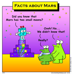 Facts about Mars (nikkibass20) Tags: new original mars color colour cute television fun robot tv cool funny comedy comic different contemporary space alien humor cartoon orb humour ufo fresh aliens nasa entertainment jokes friendly planet adventures marty et strips extraterrestrial martian ufos toons spaceships entertaining martians viral knobby animationseries marstv nikkibass
