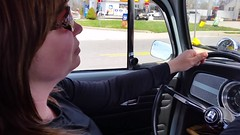 Lenora Driving The '68 Beetle