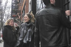 going to the birthday party (omoo) Tags: street newyorkcity girls christopher streetscene birthdayparty greetings girlfriends prettygirls greenwichvillage 2girls smilinggirls happygirls everythingispossible dscn3535 goingtothebirthdayparty greetingsatthedoor girlsgoingtoaparty