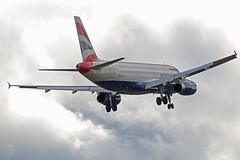 G-EUYF BRITISH AIRWAYS AIRBUS A320 NEWCASTLE AIRPORT (toowoomba surfer) Tags: aircraft jet landing airline airbus ba britishairways airliner a320 newcastleairport geuyf