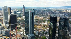 Frankfurt View From The Main Tower (CaptureTheDetails) Tags: city panorama germany deutschland hessen view skyscrapers frankfurt main metropolis financial germania bce assia maintower francoforte publicviewing