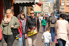 Leidsestraat - Amsterdam (Netherlands) (Meteorry) Tags: street people man holland male netherlands girl sunglasses amsterdam female bag europe afternoon candid centre femme crowd spaceinvader spaceinvaders nederland center april invader rue paysbas centrum invasion aprsmidi homme noordholland leidsestraat 2015 meteorry amsterdampeople markraven tabacoonist