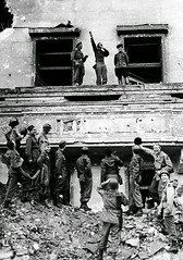 Allied soldiers mock Hitler while standing on his balcony at the Reich Chancellery, 1945. [834x1188] #HistoryPorn #history #retro http://ift.tt/1Xhr7VF (Histolines) Tags: history standing balcony hitler retro his timeline soldiers while 1945 mock reich allied vinatage chancellery historyporn histolines 834x1188 httpifttt1xhr7vf