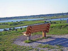 A Bench Overlooking the Celery Fields in Sarasota, Florida (soniaadammurray - SLOWLY TRYING TO CATCH UP) Tags: trees nature water grass bench landscape florida sarasota digitalphotography celeryfields