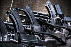 A collection of Brens. (Steve.T.) Tags: war gun collection guns shooter iconic arsenal machinegun weapons wartime secondworldwar firearms worldwartwo brengun cressingtemple weaponary automaticweapon militaryshow templeatwar taw16