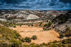 Valley /  (Kochum) Tags: road storm mountains field clouds nikon cyprus valley 1870   d90 nikkor1870