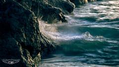 Wave and Rocks Splash (laith_stevens) Tags: ocean longexposure sunset sea green island movement energy rocks waves ngc olympus tropical splash zuiko nauru 50200mmswd goneawol olympusinspired