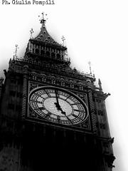 Photos by me (giuliapompili) Tags: uk blackandwhite london tower clock unitedkingdom bigben clocktower