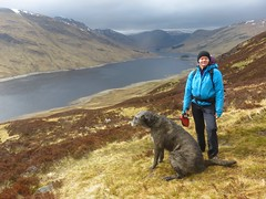 Marika and Muumi above the Lake of the Deer (andywalker1) Tags: scotland andrewwalker glenlyon