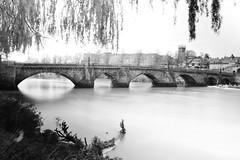 The Old Dee Bridge (18mm & Other Stuff) Tags: bridge england blackandwhite water nikon chester slowshutter theolddeebridge d7200 longexposuremonochrome