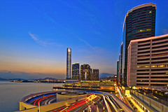 Sunset at Star Ferry Habour City (briantang0703) Tags: city sunset sea sky cloud reflection building exposure