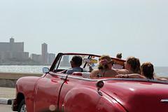 En voiture Simone! (Vicky Bella) Tags: havana tourists seawall esplanade oldcar malecn citytour avenidademaceo