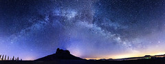 Milkey Way (DA Foto) Tags: panorama nature night stars nacht saxony natur sachsen stern milkyway lilienstein milchstrase