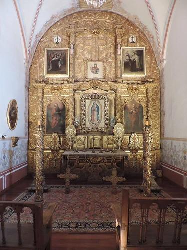 Retablo del Altar Mayor, Capilla Doméstica, Museo del Exconvento del Carmen de San Ángel, Delg. Álvaro Obregón, Cdad. de México, CDMX.