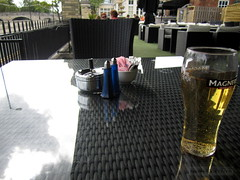 Well-Appointed (innpictime  ) Tags: glass bar bedford hotel riverside drink terrace branded bedfordshire cider sugar patio ashtray comfort wicker tabletop furnishings blueglass saltandpepper refreshment gardenfurniture magners cruets wellappointed 521348770464380 bdlhotelgroup