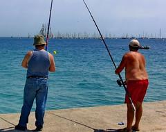 BCN Waterfront, Have a good catch (gerard eder) Tags: world barcelona city travel espaa beach spain europa europe waterfront ciudades barceloneta stdte catalua spanien reise metropole