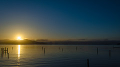 Sausalito Sunrise (Garden State Hiker) Tags: sanfrancisco california shadow sky nature water northerncalifornia sunrise outdoors dramatic marincounty sanfranciscobay sausalito summeroutdoors