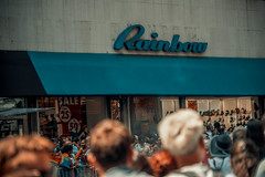 The name of this store is Rainbow. (Jeffrey) Tags: nyc newyorkcity summer newyork june orlando manhattan pride midtown prideparade stonewall gaypride fifthavenue humanrights neverforget civilrights 30s gayrights 2016 nycpride