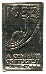 1933 Century of Progress (jericl cat) Tags: chicago history century vintage sticker expo foil progress fair ephemera stamp souvenir international exposition seal worlds 1933