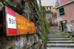The way to Riomaggiore (f_bertilsson) Tags: sign stairs hiking path walk hike terre manarola cinque riomaggiore