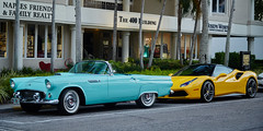 Old and New (another_scotsman) Tags: classic car florida 5thavenue naples thunderbird