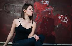 Aspirational (nathansmithphoto) Tags: tanya camisole black tank strobe halifax woman girl model
