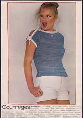 Courreges 1978 (3) (moogirl2) Tags: vintage retro vogue 70s 1978 supermodels fashions 70sstyle vintageads albertwatson courrges pattihansen vintagevogue vintagecourrges