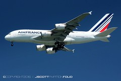 Air France | F-HPJI (j.scottsfolio) Tags: airfrance fhpji airbus a380 a380861 jumbojet airplane airline landing