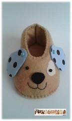 Sapatinho Cachorrinho (mfuxiqueira) Tags: cachorro feltro menino sapa maternidade chádebebê sapatinho cachorrinho lembrancinha materni