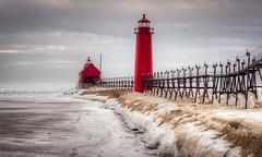 Frozen Spring (joshuay04) Tags: lighthouse lake frozen michigan sony grandrapids mitten grandhaven almostspring a7ii puremichigan konicahexanon135mm