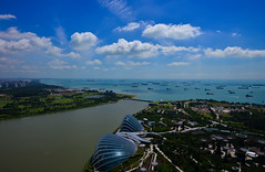 Clear Sky (Yohsuke_NIKON_Japan) Tags: ocean summer sky clouds garden singapore asia southeastasia day ship view wide bluesky clear deck daytime nano export marinabay d600 1635mm marinabaysands gardenbythebay